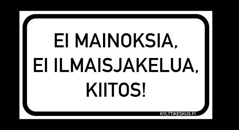 Finnish No Junk Mail magnet