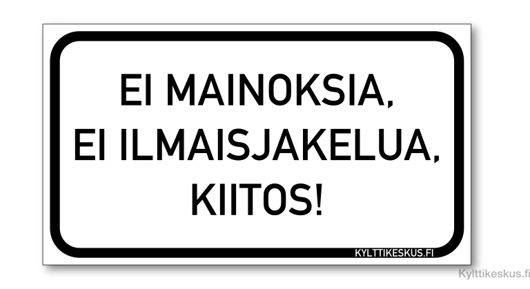Finnish No Junk Mail magnet