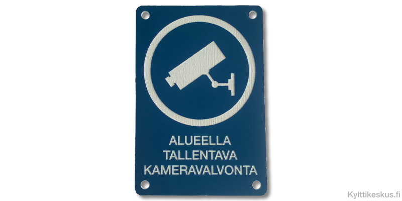Video Surveillance sign in Finnish
