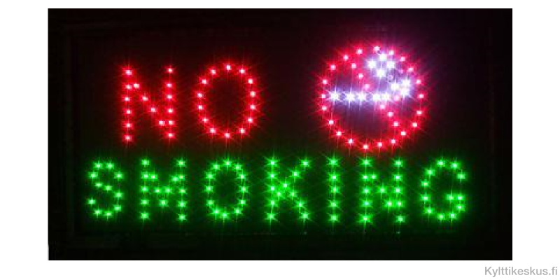 "Led sign ""NO SMOKING"""