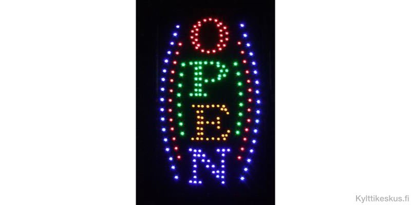 "Led sign ""OPEN"", vertical"