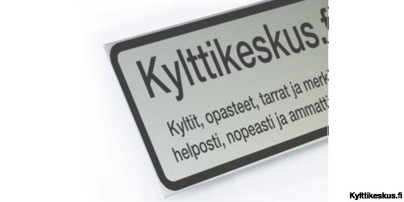 Company sign 40x30cm, aluminium
