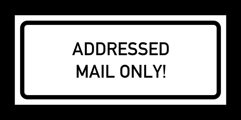 No Junk Mail sticker