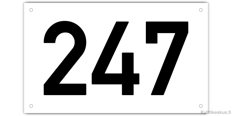 Door number or house number sign