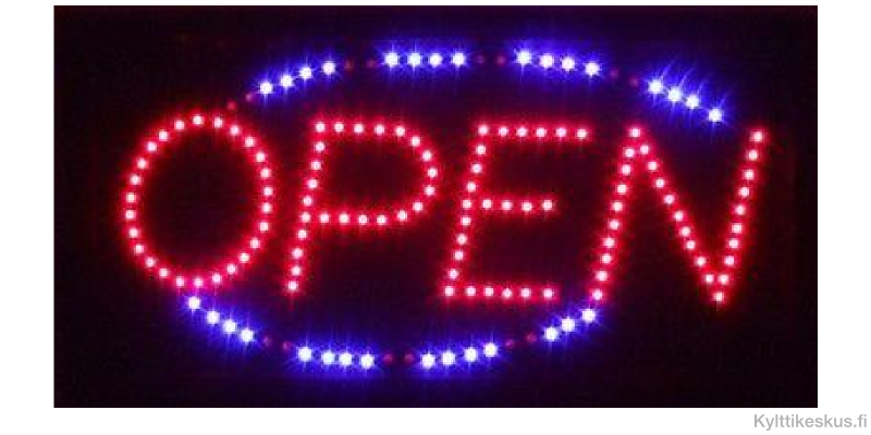 "Led sign ""OPEN"""