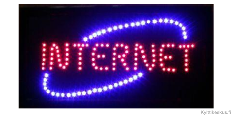 "Led sign ""INTERNET"""