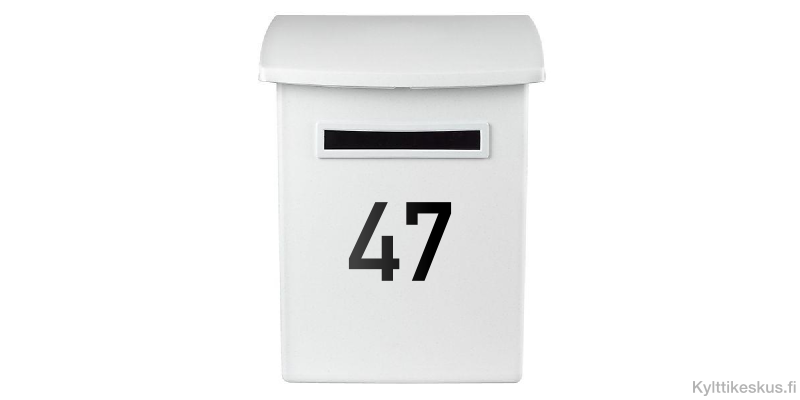 Mailbox number label
